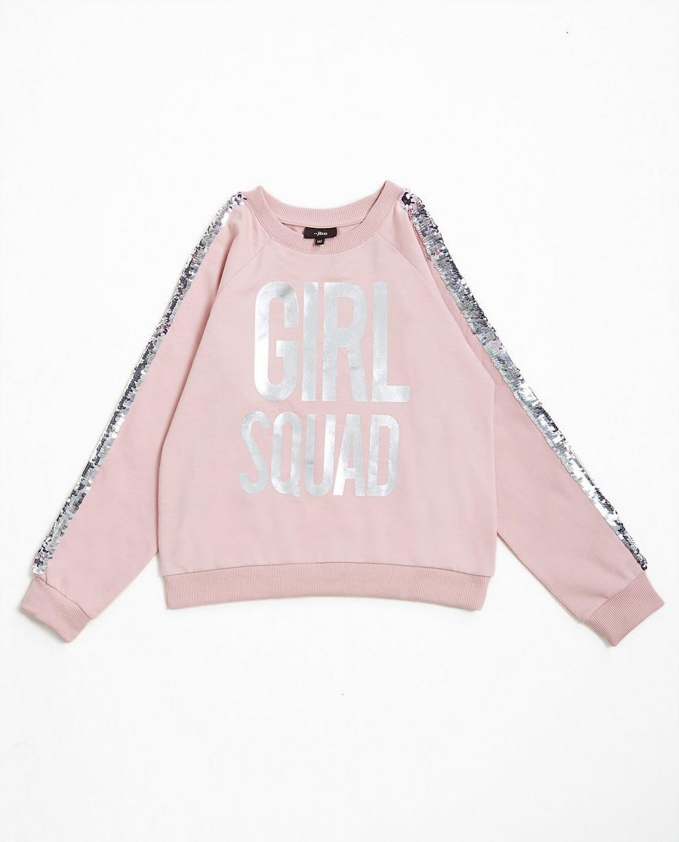 Sweater met pailletten - in lichtroze - JBC